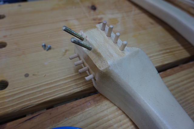 Spiky with dowels